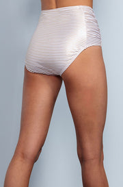 Ruched High Waisted - Gold Stripes - DM Fashion