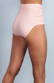 Ruched High Waisted - Dusty Pink Stripes - DM Fashion