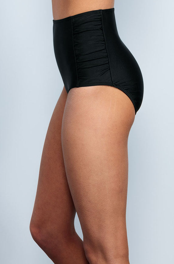 Ruched High Waisted - Black - DM Fashion