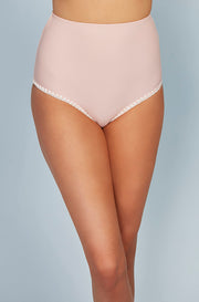 High Waisted Bottom - Seashell Pink Embroidery