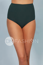 Ribbed High Waist Bottom - Jasper Green