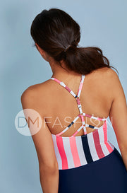 Sailor Back One Piece - Glow Stripe