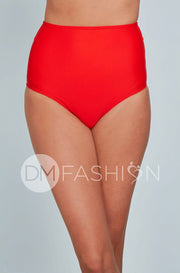 High Waist Bottom - Cherry Red
