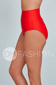 High Waisted Bottom - Cherry Red