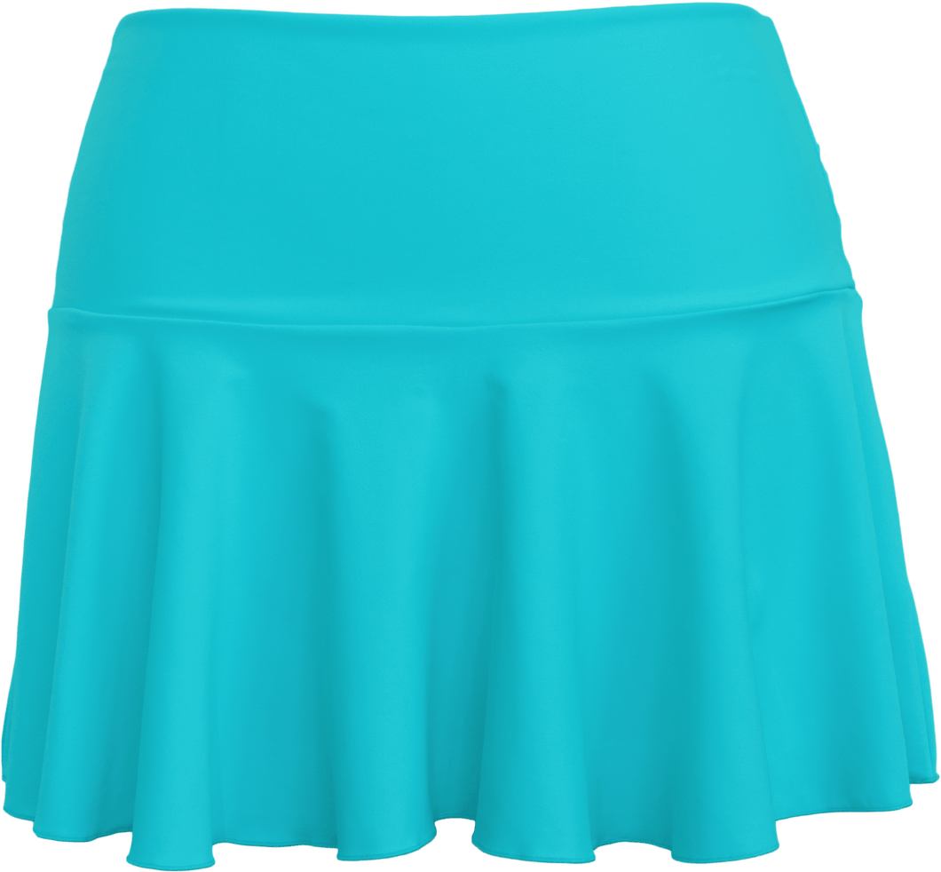 Ruffle Skirt - Aqua - FINAL SALE - DM Fashion