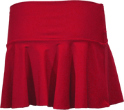 Ruffle Skirt - Red - FINAL SALE - DM Fashion