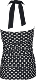 Bandeau Halter - Black Cream Retro Dots