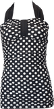 Bandeau Halter - Black Cream Retro Dots - DM Fashion
