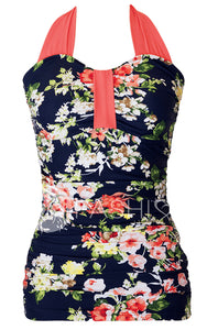 Bandeau Halter - Navy Floral - DM Fashion