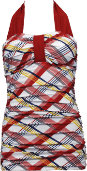 Bandeau Halter - Nautical Plaid - FINAL SALE - DM Fashion