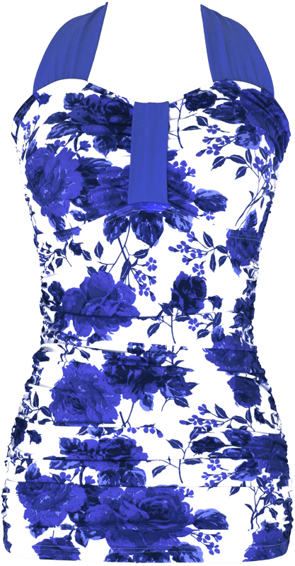 Bandeau Halter - Royal Rose Garden Floral - FINAL SALE - DM Fashion