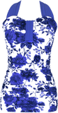 Bandeau Halter - Royal Rose Garden Floral - DM Fashion