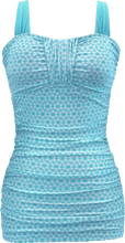Ruched Bandeau - Aqua Daisy Chain - FINAL SALE - DM Fashion
