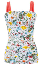 Ruched Square Tankini Top - Sunny May Floral - FINAL SALE