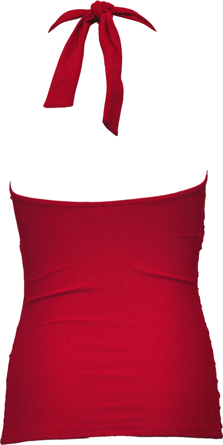 Flounce Halter - Red - FINAL SALE - DM Fashion