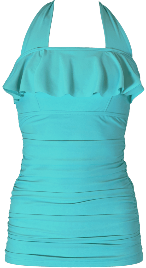Princess Ruffle Halter - Aqua - DM Fashion