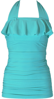 Princess Ruffle Halter - Aqua - FINAL SALE - DM Fashion