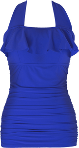 Princess Ruffle Halter - Royal Blue - FINAL SALE - DM Fashion