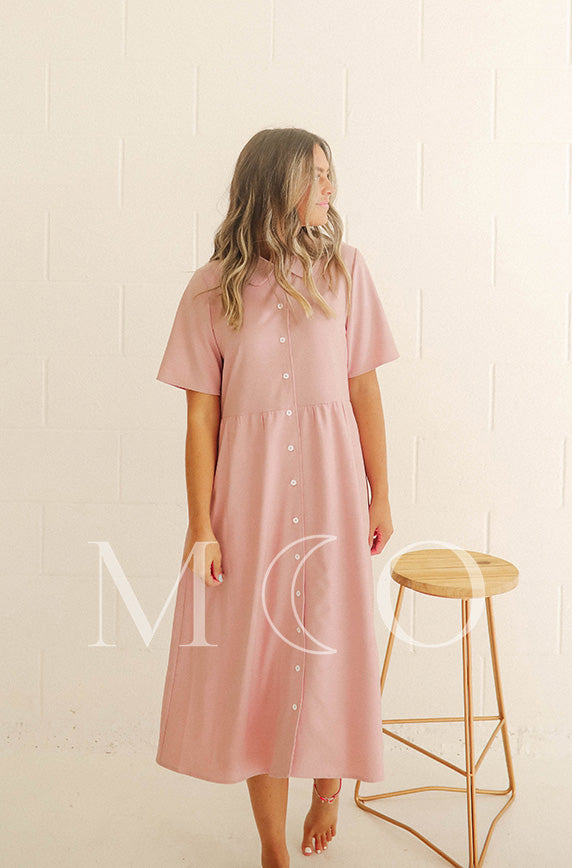 Leora Cotton Candy Pink Dress - MCO - Nursing Friendly