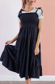 Hard To Forget Black Tiered Dress
