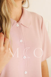 Leora Cotton Candy Pink Dress - MCO - Nursing Friendly - Preorder