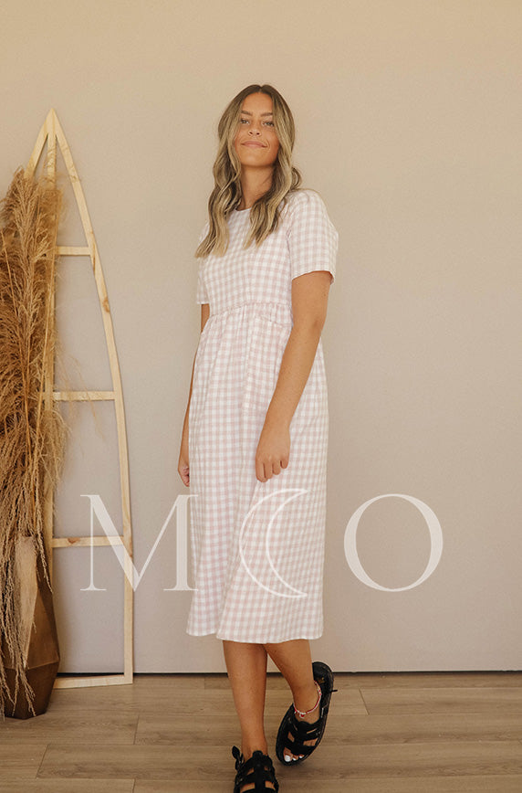 Harley Pink Gingham Dress - MCO