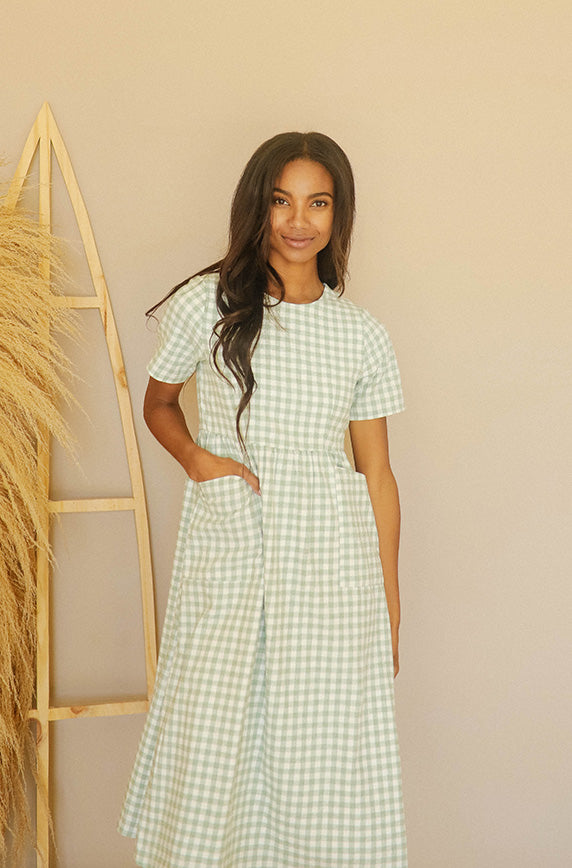 Harley Green Gingham Dress - MCO