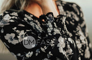 Melanie Black Floral Maxi - DM Exclusive - Restocked