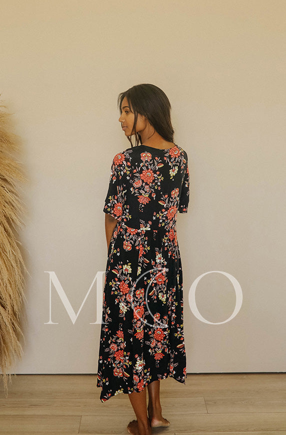 Chloé Autumn Floral Dress - MCO - FINAL SALE