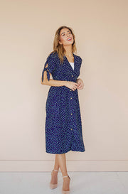Madison Navy Polka Dot Dress - FINAL SALE