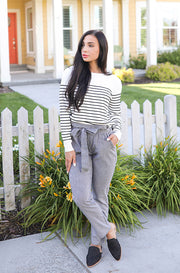 Deluca Black Gingham Pants