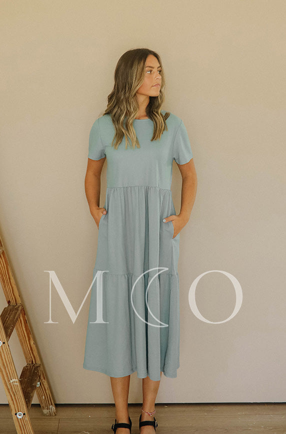 Kelsey Mineral Blue Dress - MCO