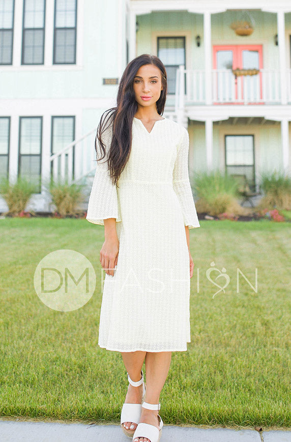 Emilee Yellow Eyelet Midi - DM Exclusive - FINAL SALE