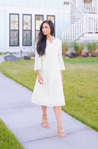 Emilee Pale Yellow Eyelet Midi - DM Exclusive - FINAL SALE