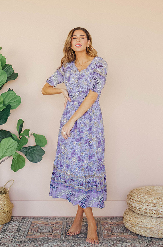 Brynn Paisley Floral Dress - Nursing Friendly