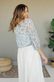 Paradise Aqua Mint Blouse - FINAL SALE