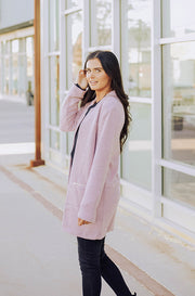 On My Way Lilac Long Jacket
