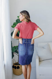 Sweet On You Denim Skirt - FINAL FEW