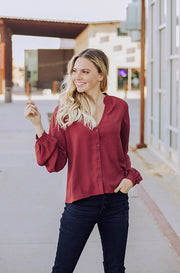 Prove Them Wrong Red Blouse - Nursing Friendly