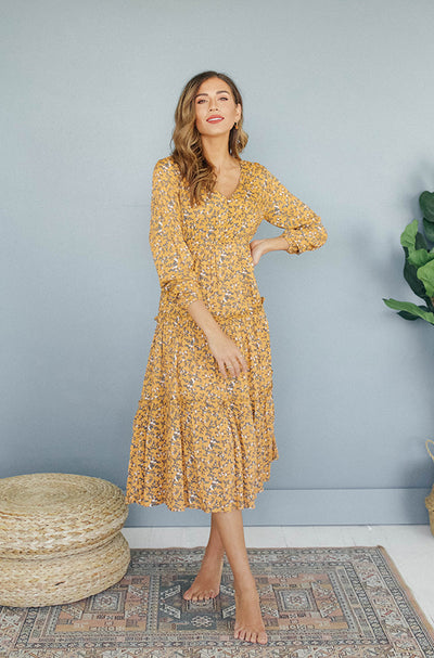 Carmen Floral Dress - Nursing Friendly