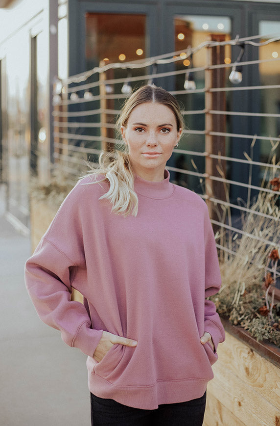 Troy Dusty Lavender Crew Neck Sweatshirt