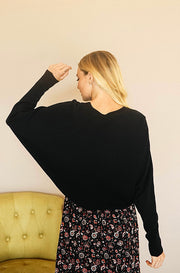 Down To Earth Black Knit Sweater