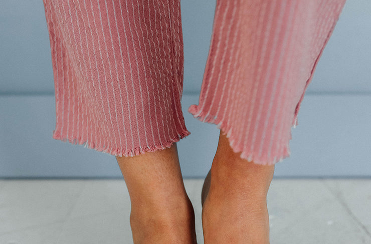 Gone Girl Mauve Stripe Pants - Restocked