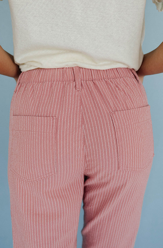 Gone Girl Mauve Stripe Pants - FINAL FEW
