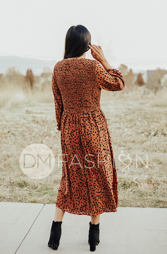 Nala Leopard Midi Dress - Restocked