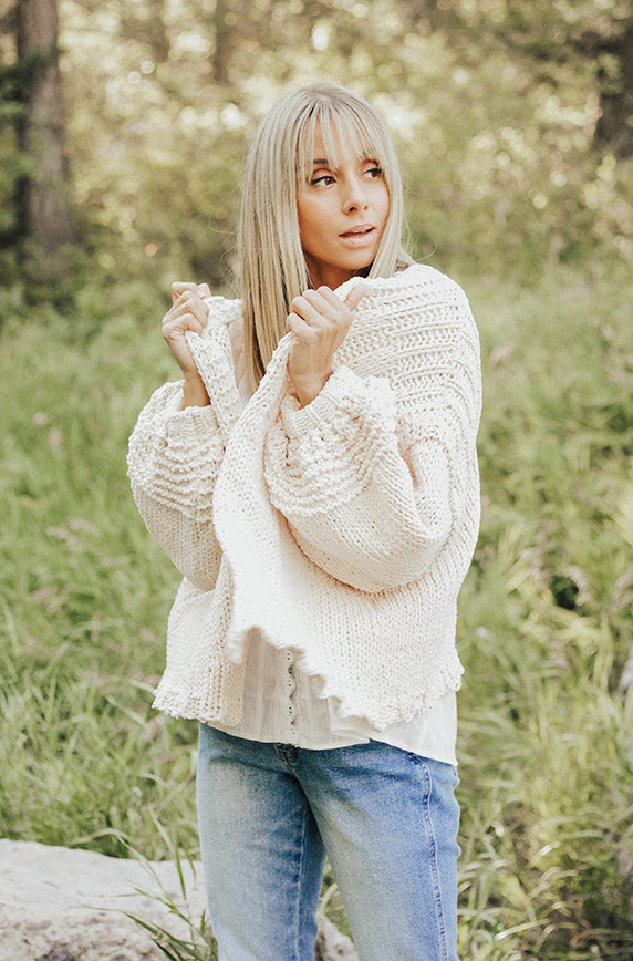 Scarsdale Cream Cardigan
