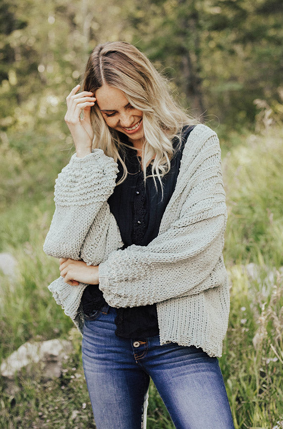 Scarsdale Faded Grey Cardigan