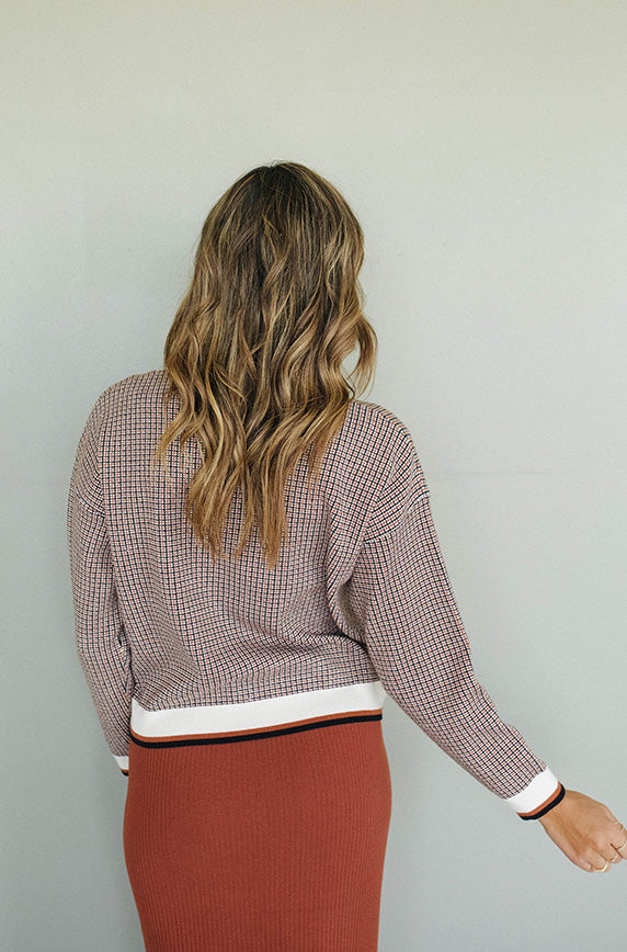 Easy Living Checkered Sweater