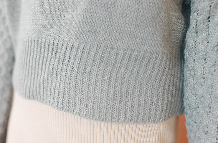 Keep Me Cozy Blue Gray Sweater