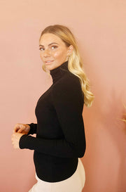 Sweet Talk Black Turtleneck
